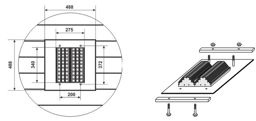 Светильник светодиодный для АЗС СЭС-01-60-Гелиос АЗС2