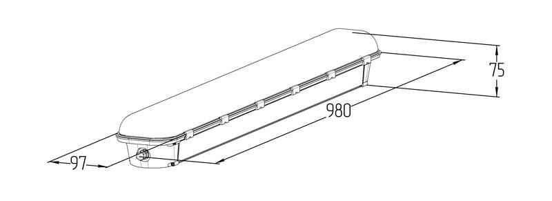Светодиодный аварийный светильник LGT-Prom-ArcticLux-35-Em