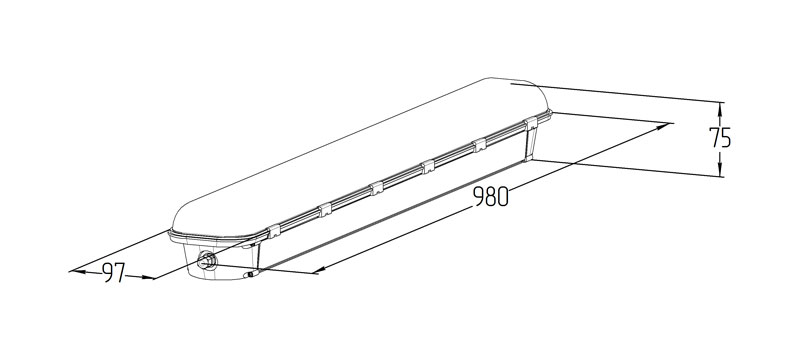 Светодиодный аварийный светильник LGT-Prom-ArcticLux-50-Em