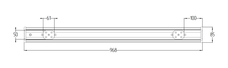 Светодиодный промышленный светильник LGT-Prom-VegaLong-45