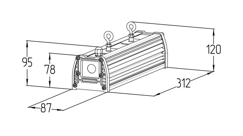 Светодиодный промышленный светильник LGT-Prom-VegaLux-50