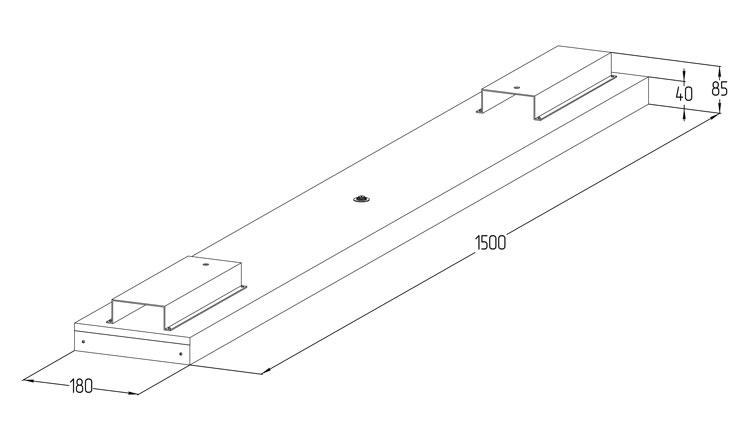 Светодиодный аварийный светильник LGT-Retail-Hyper-1500-70-Em