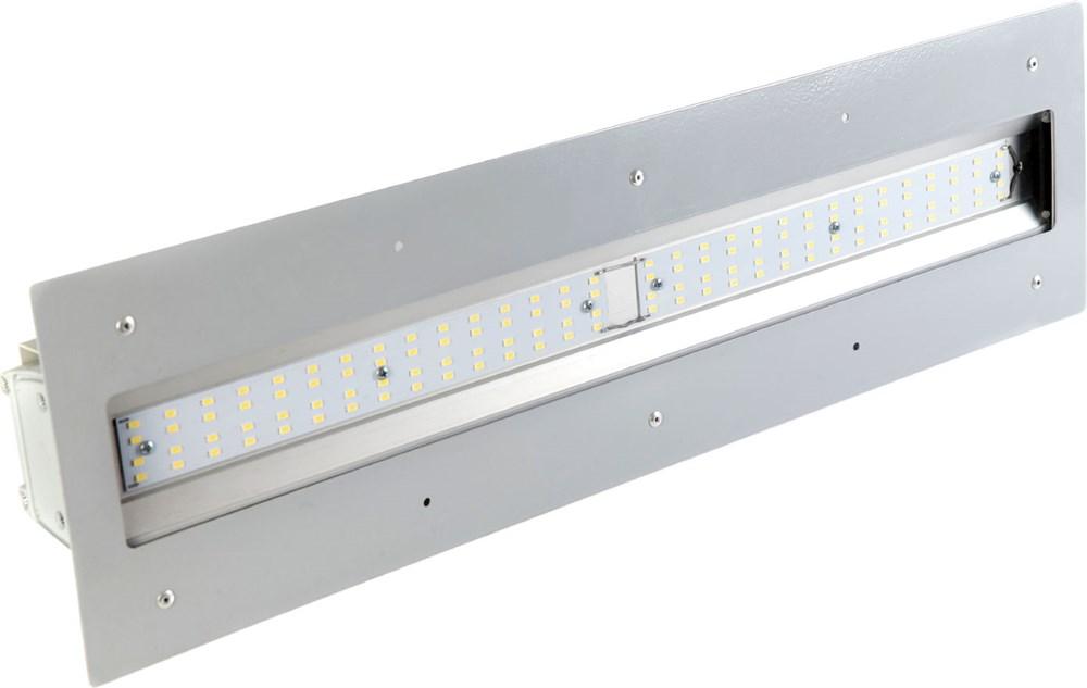 """Линейный светильник """"UL"""" с рамкой для монтажа в навес NEWLED.UL.55.120.5K.IP65.AZS"""