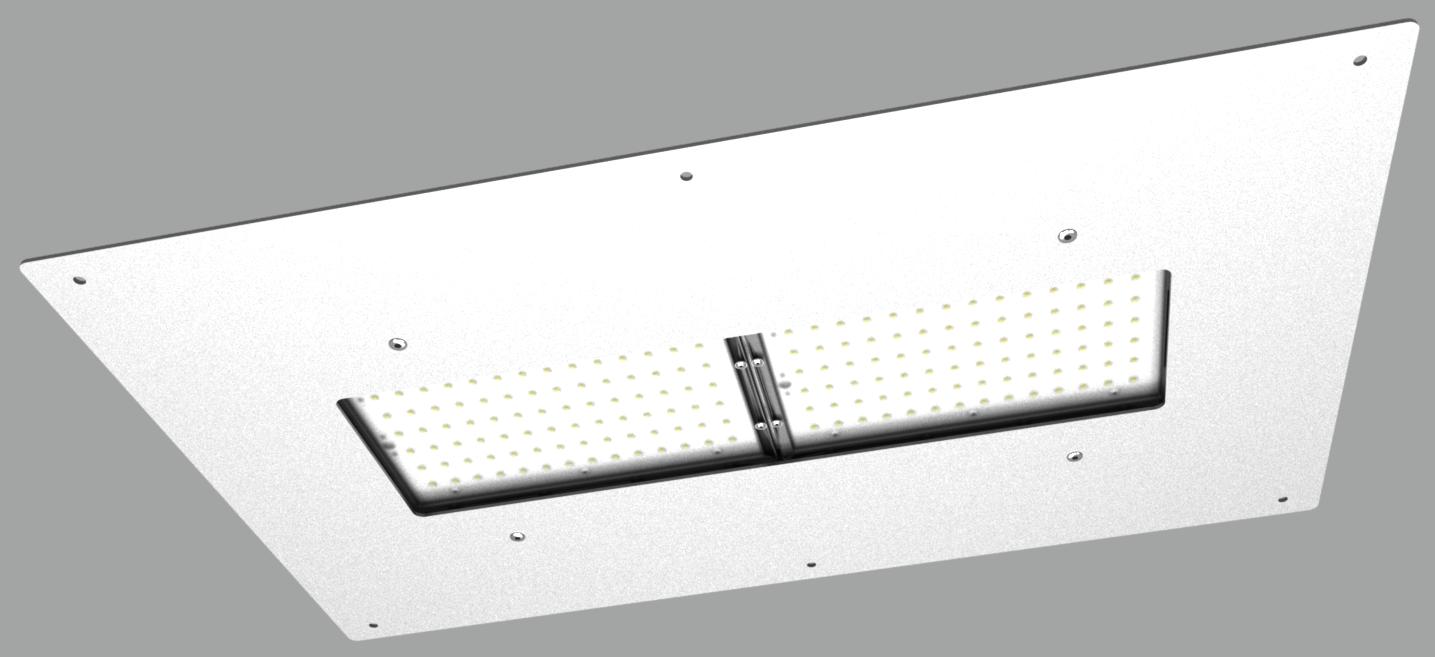 """Модульный светильник """"UM"""" с рамкой для монтажа в навес NEWLED.UM.96.120.5K.IP67.AZS"""