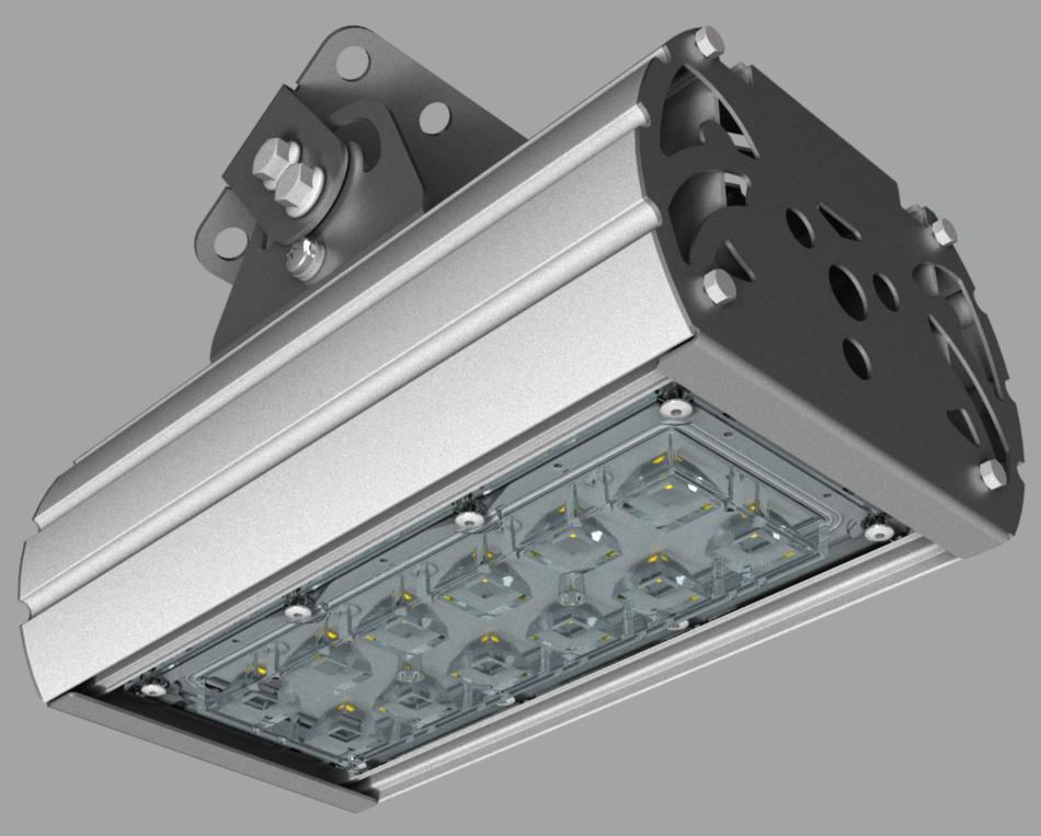 """Прожектор """"UMK"""" с овальным лучом NEWLED.UMK-MW.40.30x120.5K.IP67"""