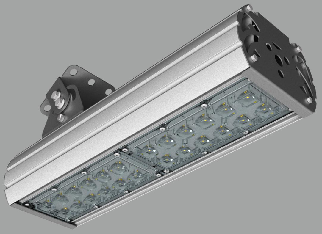 """Прожектор """"UMK"""" с овальным лучом NEWLED.UMK-MW.80.30x120.5K.IP67"""
